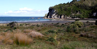 Cliffs and mouth of Otahu River estuary