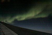 Aurora over the North polar region