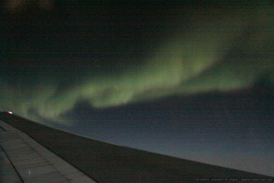 JoeTourist: Victoria to Johannesburg &emdash; Aurora over the North polar region