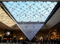 Inverted pyramid in the main underground entrance to the Louvre