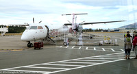 De Havilland DHC8 Dash 8-400. Alaska/Horizon Air on the apron in Victoria Airport