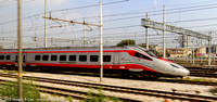 Frecciarsento high speed train in the rail yard at Mestre