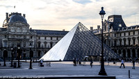 The Louvre's glass pyramid