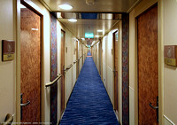 Main Deck 2 hallway looking aft on starbord side where our cabins are located