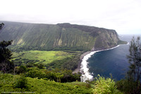 Black sand beach and Kohala coastline