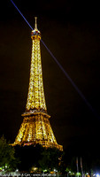 The Eiffel Tower lit at night