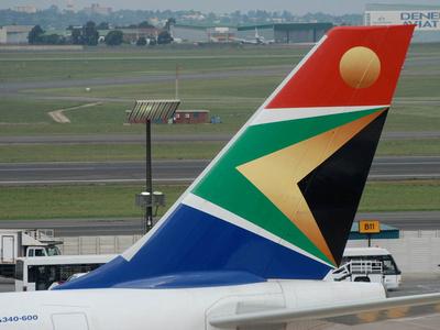 JoeTourist: Victoria to Johannesburg &emdash; SAA A340 tail fin