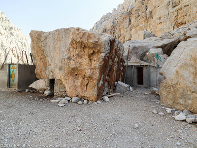 Dwellings built among (and inside) the rocks