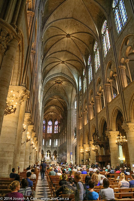 Worshipers in the Notre Dame sanctuary