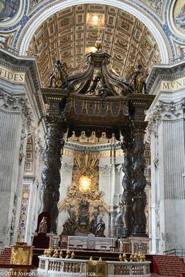 Bernini's Baldachino - St. Peter's Basilica