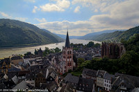 Saint Peter's church, Gothic Wernerkapelle ruin & the Rhine River