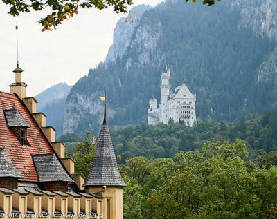 Neuschwanstein Castle from Hohenschwangau town