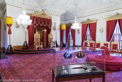 Throne Room in the Iolani Palace, Honolulu, Hawaii