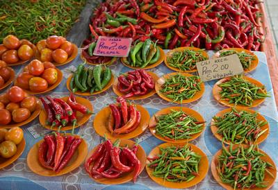 Chillies - Cili Besar & Cili Kecil - Serian Public market