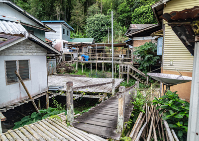 Walkways between homes in Kampung Annah Rais