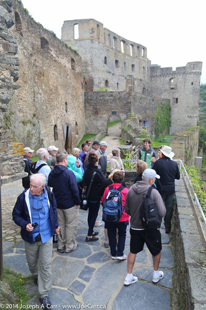 Our group walking along the castle wall