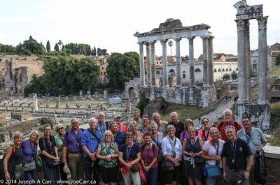 Group photo in front of the Roman Forum