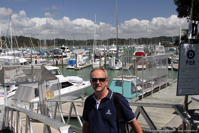 JoeTourist: Bay of Islands &emdash; Joe at Opua marina where SV Sequoia was moored in 2004