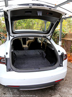 Hatchback and trunk space with rear seats folded down