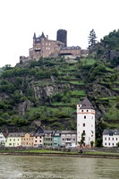 Katz Castle above St. Goarshausen on the Rhine River