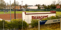 Willamette University Bearcats female football team practicing