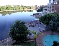 Lagoon in front of my hotel in Pretoria