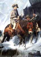 Painting: Bonaparte Crossing the Alps - 1848