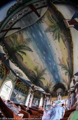 JoeTourist: Kona &emdash; Interior of the Painted Church
