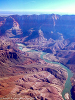 Colorado River, the Canyon floor, looking southeast from the North Rim