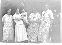 Four women and a baby