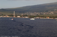 Lahaina harbour and town from offshore