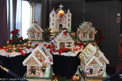 Gingerbread House - Christmas decorations aboard Rotterdam