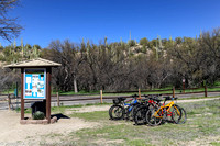 Bikes parked at the trail head