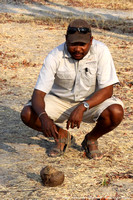 Victor beside some elephant dung