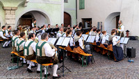 Band playing in the town square