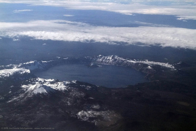 Aerial view of Crater Lake, Oregon