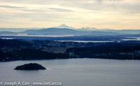 Mount Baker, Saanich Peninsula from Malahat Summit
