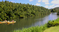 Paddlers on the Hanalei River