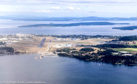 On final approach to Victoria Airport over Patricia Bay
