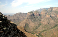 Steep walls of the Blyde River Canyon