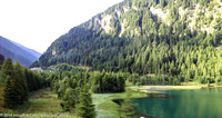 Glacier-fed lake near the Brenner Pass
