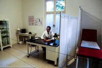 Doctor (mannequin) in his office and exam room