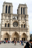 Plaza and exterior of Notre Dame Cathedral