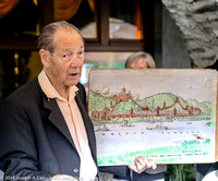 Herr Jung show us a map of the old town and its fortifications