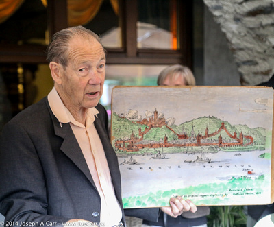 JoeTourist: Bacharach &emdash; Herr Jung show us a map of the old town and its fortifications