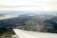 Looking north toward Seattle after takeoff from SeaTac airport