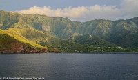 Our early morning arrival in Taiohae harbour, Nuku Hiva, Marquesas, French Polynesia