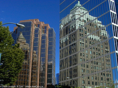 JoeTourist: Vancouver &emdash; The Marine Bldg - two reflections